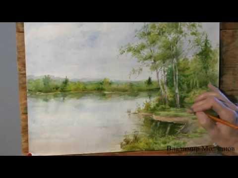 фото пейзажи природы акварелью