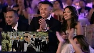 The Bride & Groom REACT to their wedding video on their wedding reception! HOW IS THIS POSSIBLE?