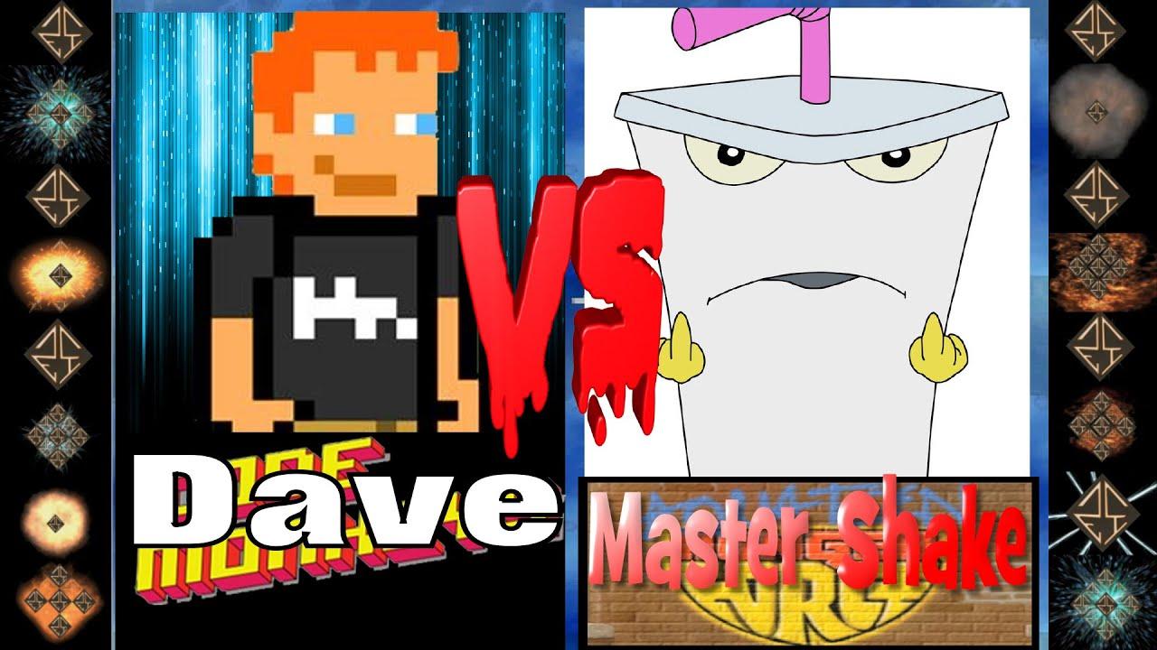 Dave (Code Monkeys) vs Master Shake (Aqua Teen Hunger Force) - Ultimate  Mugen Fight 2016 - YouTube