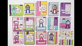 Queen & Co. Gumball shaker kit and Candy Land 6x6 - 27 cards 1 kit