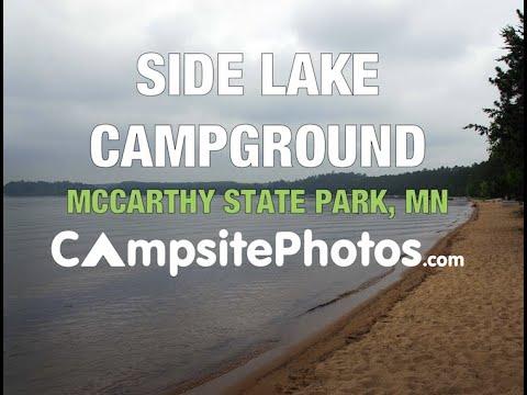 side lake campground mccarthy beach state park minnesota youtube