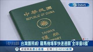 拿台灣護照走路有風! 台灣享有義大利羅馬快速通關特權 是除歐盟國外