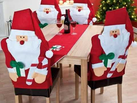 Decoraci n de navidad para sillas youtube - Adornos navidenos para sillas ...