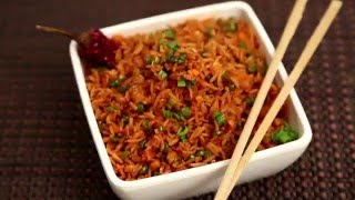Schezwan Fried Rice - शेज़वान फ्राइड राइस - Quick Easy To Make Chinese Rice Recipe