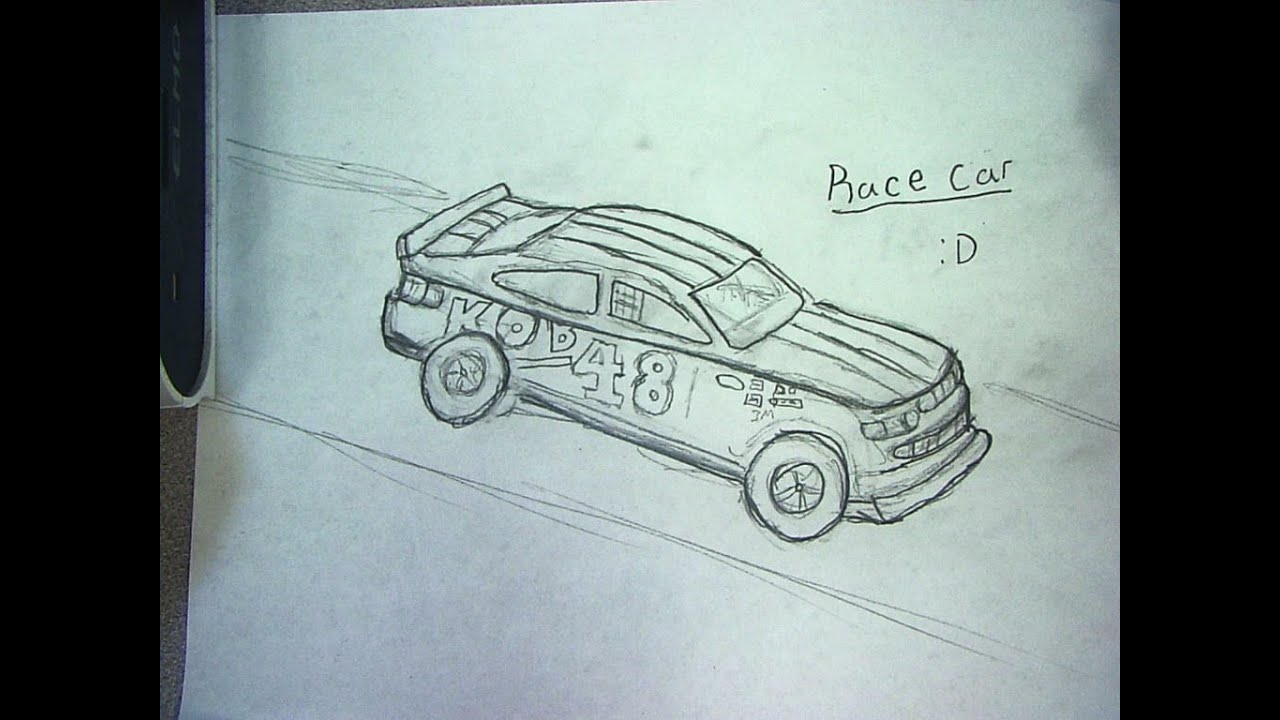 How To Draw Race Car Youtube