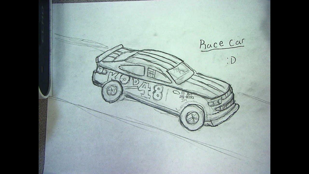 Easy Drawing Race Car Race Car Outline Clipart