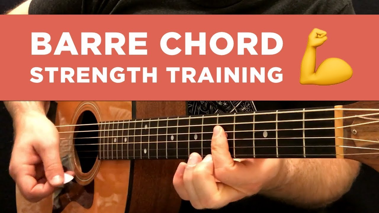 Barre Chord Strength Training Exercise Guitar Practice Tip