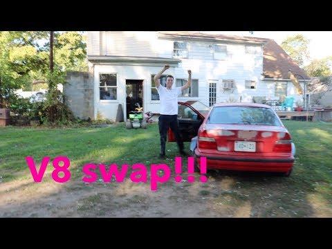 The V8 E36 First Drive!!! OMG SO LOUD