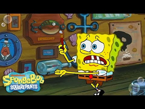 The Wet Painters 🎨 in 5 Minutes | SpongeBob