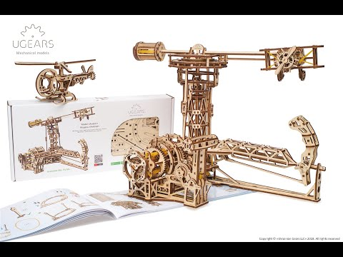 3D Mechanical Wooden Puzzle Games  Ugears Aviator   Models to build   DIY Wood Projects