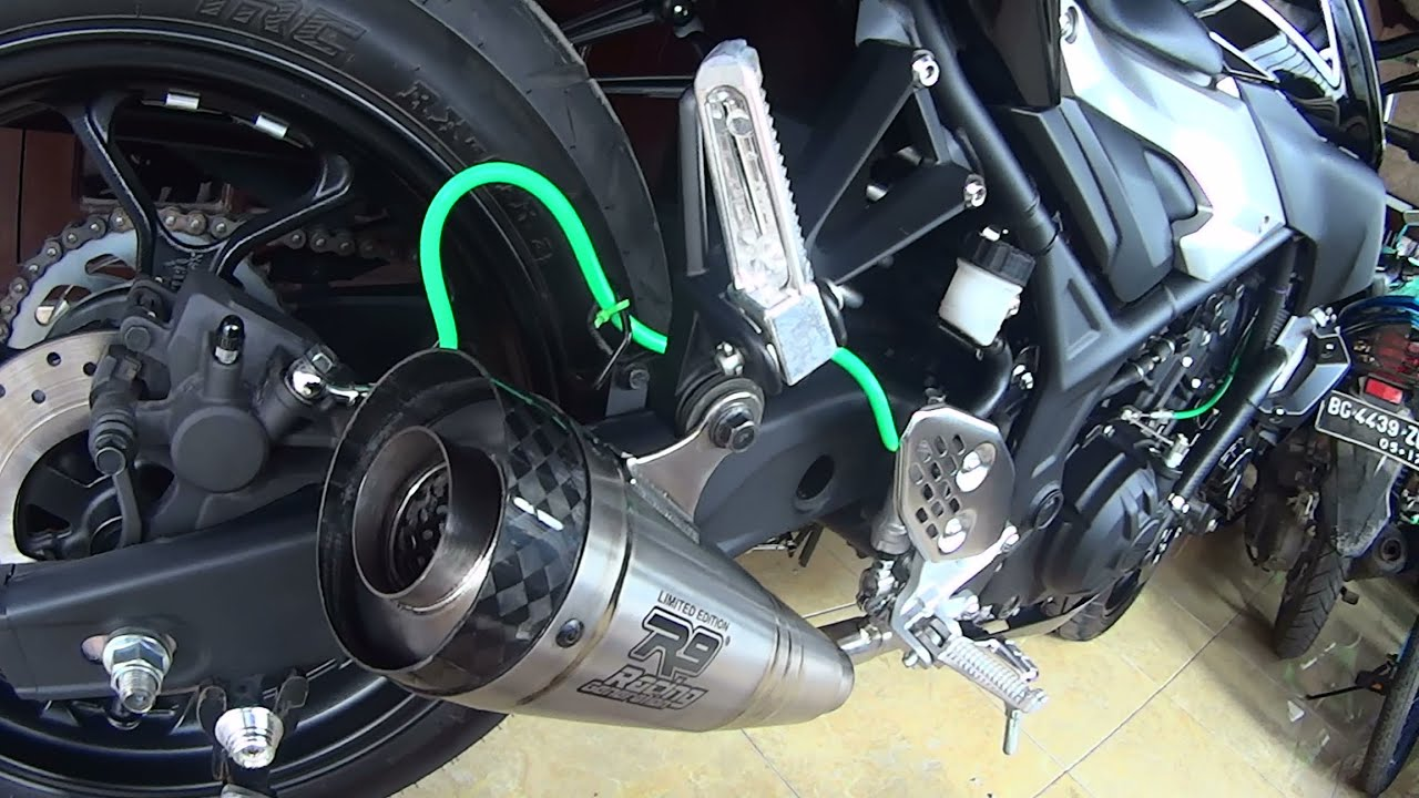 Knalpot R9 Model H2 Titanium Yamaha Mt25 Dan R25 Youtube Full System New Mugello Byson