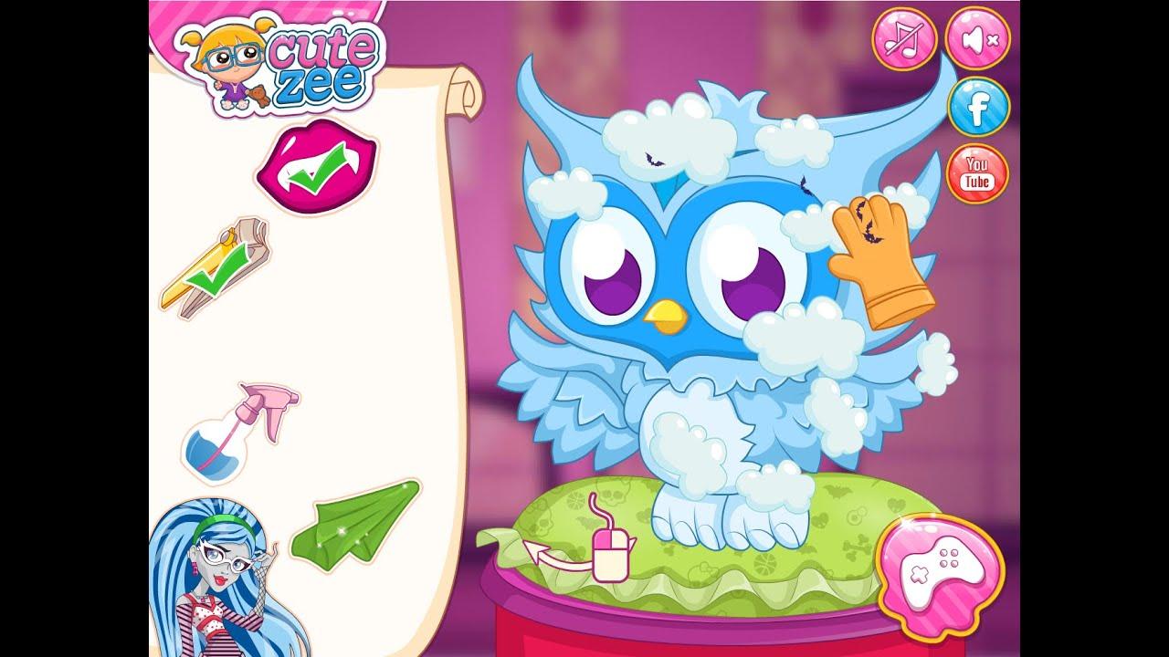... High Video Game - Monster High Pets Salon - Cutezee.com - YouTube