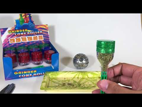 Rolling Academy # 7 Grinder + Cone Roller + Stuffing Tool = Cool Smoking Invention - Must Have!