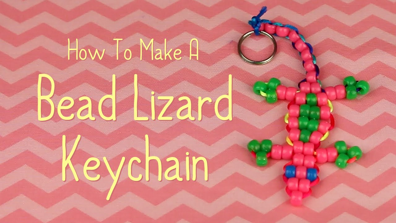 How To Make A Bead Lizard Keychain - YouTube 0964928c9
