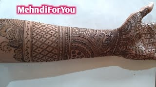 NEW BRIDAL MEHNDI DESIGN FOR FUL HANDS || FRONT HAND BRIDAL MEHNDI || FULL HAND BRIDAL HEENA
