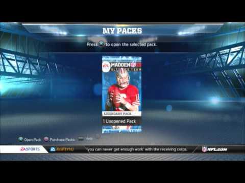 Madden NFL 13 Ultimate Team - Reggie White, Deion Sanders,George Blanda LEGENDARY PACK OPENING