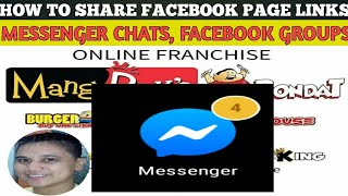 HOW TO SHARE FACEBOOK PAGE LINK TO GROUPCHATS AND GROUP PAGES