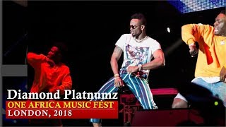 Diamond Platnumz Performance at One Africa Music Fest, London 2018