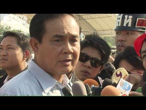 タイ政情不安 軍トップがクーデターに含み(14/01/11)