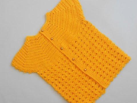 (Crochet-Crosia) How to crochet Girl Cardigan Sweater