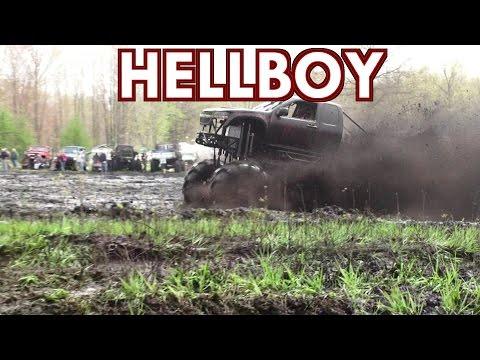 Hellboy Mega Chevy Mudding At BFE Mud Bog Spring 2017