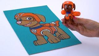 РАСКРАСКА ДЛЯ ДЕТЕЙ. Самолетики помогают найти цвета для щенка Зумы / Раскрашиваем Щенячий Патруль