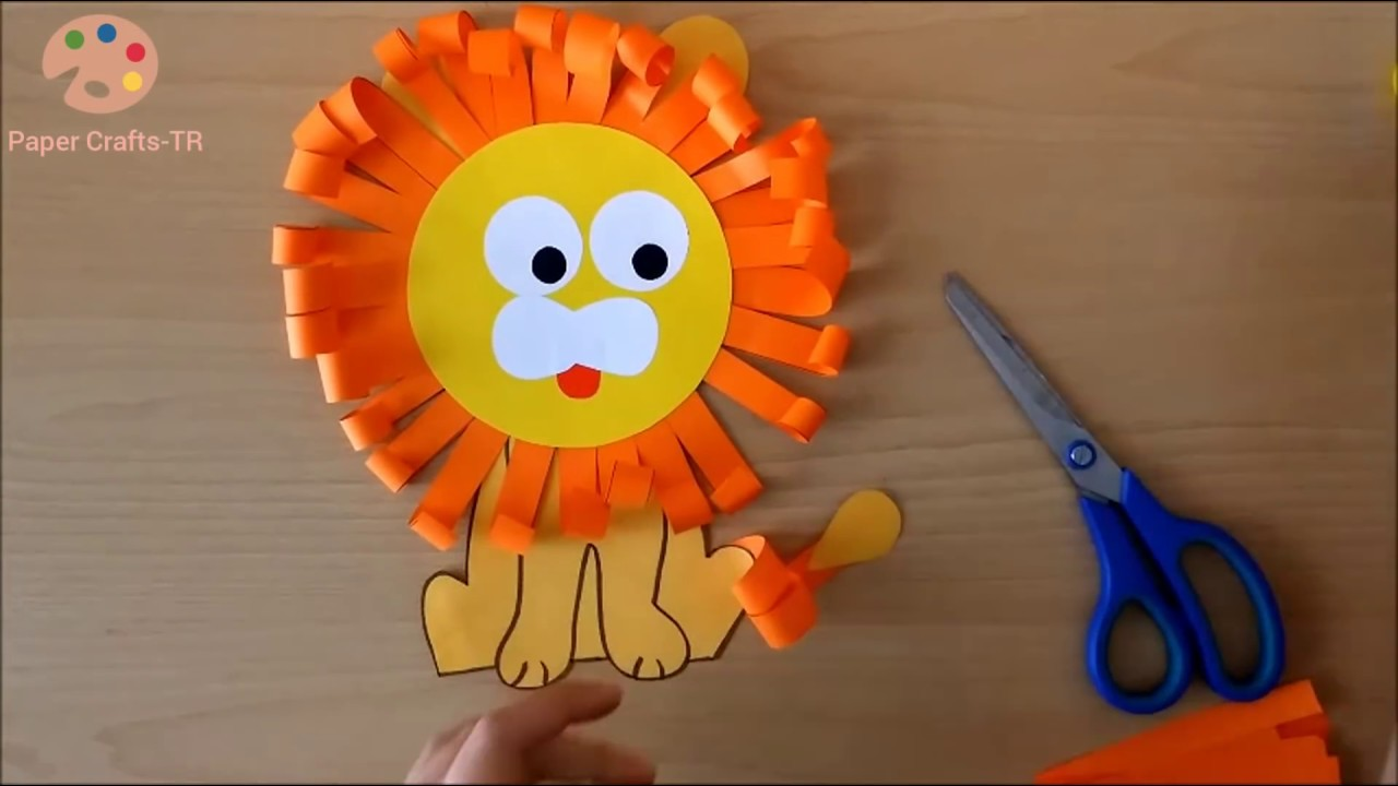 Making Lion From Paper Youtube