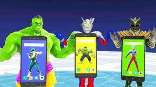 Wrong superheroes Upin Ipin Adit Sapo Jarwo hulk green rangers ultraman zero Finger Family Song