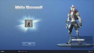 Fortnite Battle Royale Win Unlocking White Dire Skin!