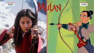 MULAN Trailer #1 Side By Side Comparison (2020) Disney HD