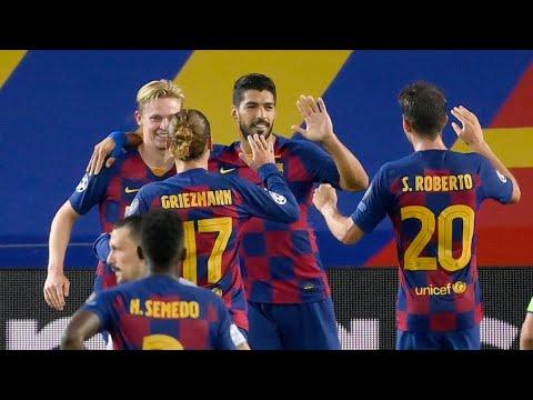Barcelona vs. Napoli score: Messi dazzles as Barca advance to ...