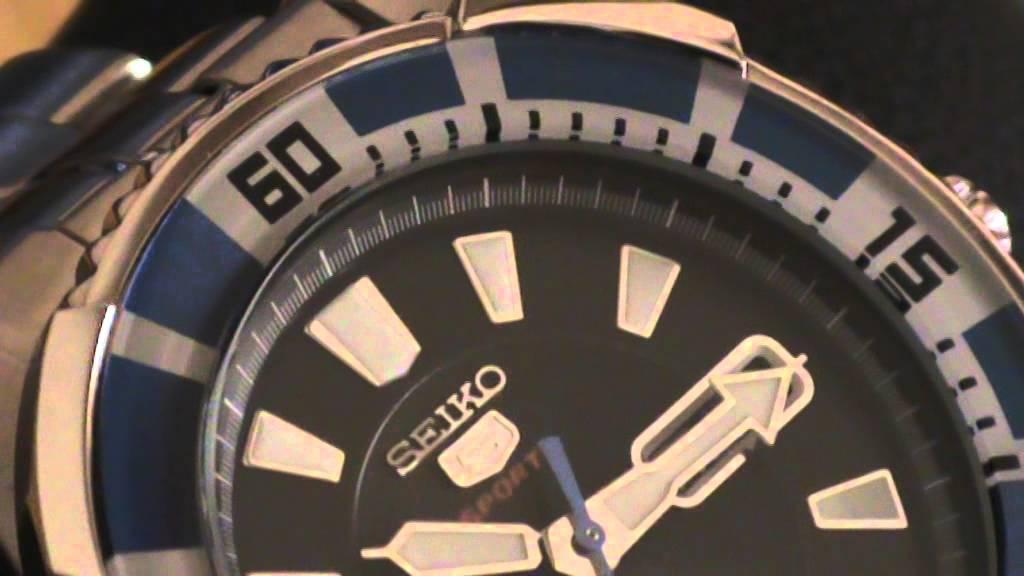 b7e2316dab73 SEIKO 5 SPORTS AUTOMATIC 24 JEWELS 100 M CAL. 4R36 - YouTube