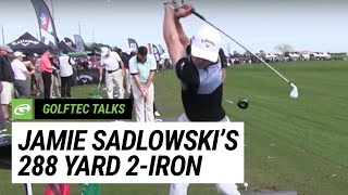 Jamie Sadlowski's 288-yard 2-iron at the 2016 PGA Merchandise Show