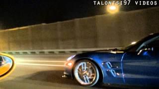 spoolbus porsche 1000hp vs zr1 950hp nitrous roll racing