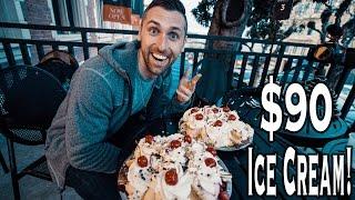 Ghirardelli Earthquake Ice Cream Sundae Challenge!