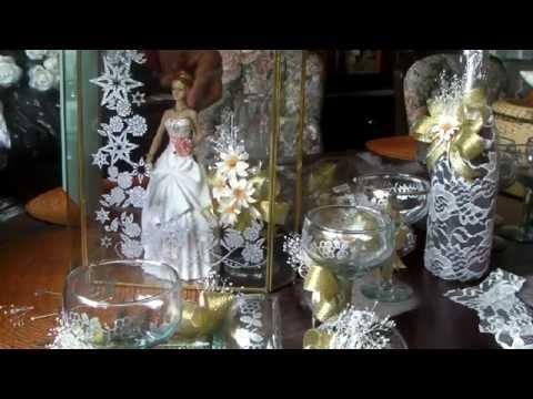 Como decorar copas para xv a os youtube - Como decorar copas para boda ...