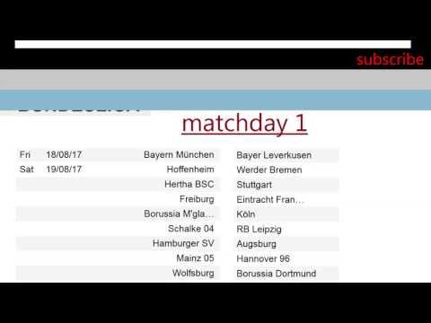 Bundesliga schedule season 2017-2018 football