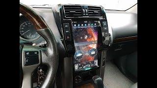 """Магнитола для Тойота Прадо 150 в стиле Тесла Экран 13,3"""""""