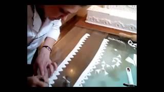 Шнуровка из мастики для украшения торта