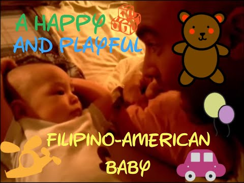 A happy and playful Fil-Am Baby (Filipino American Love journey)