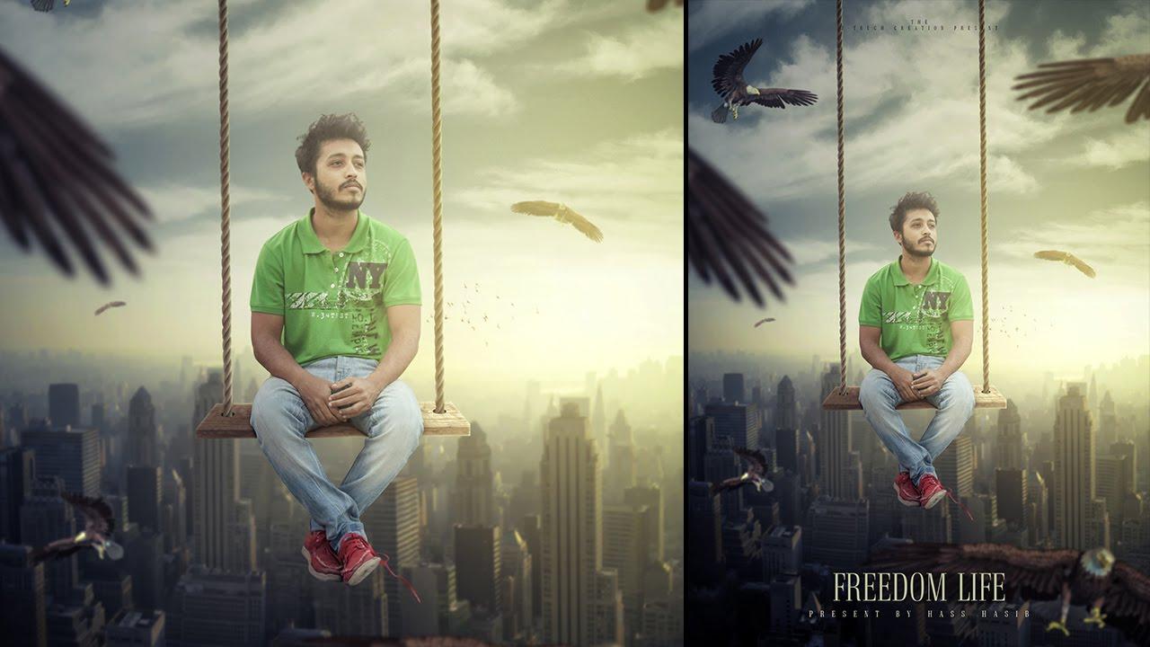 Photoshop Tutorial Photo Manipulation Freedom Movie Poster