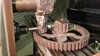 Repairing a Broken Gear Tooth Part 1 - Milling a Dovetail Slot on a Horizontal Milling Machine
