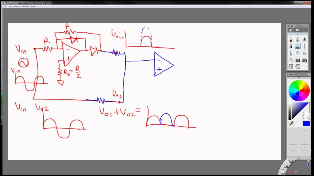 Precise Full Wave Rectifier Example With Op Amps Part 4 Youtube Build A Fast Halfwave Circuit Diagram Electronic