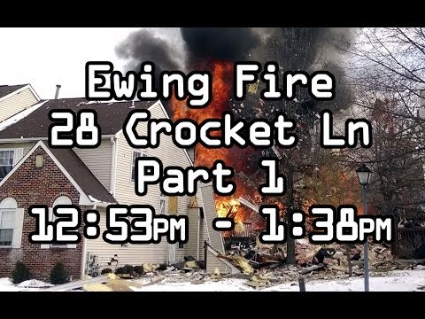 Natural Gas Explosion, Ewing NJ Fire Department Homes explode , Part 1 DISPATCH AUDIO