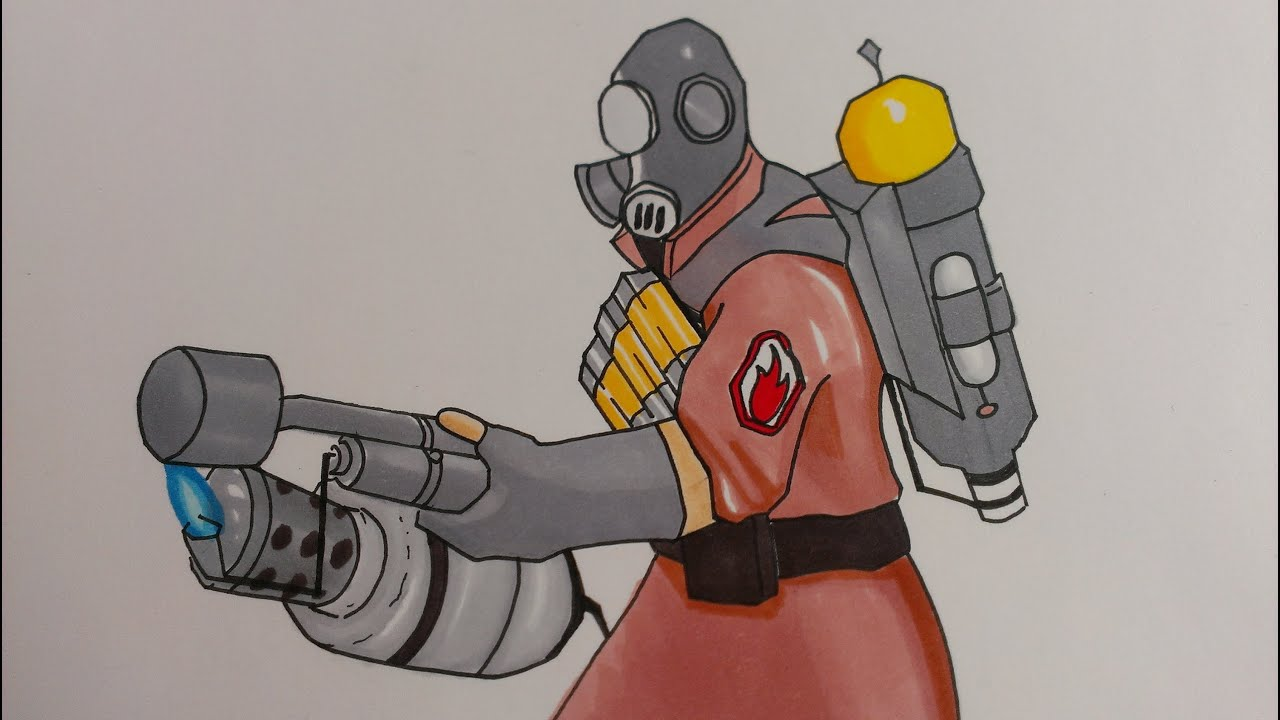 Drawing Pyro Team Fortress 2 YouTube