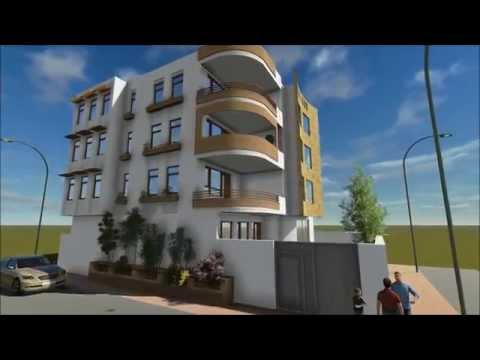 Residential building design and 3d animation