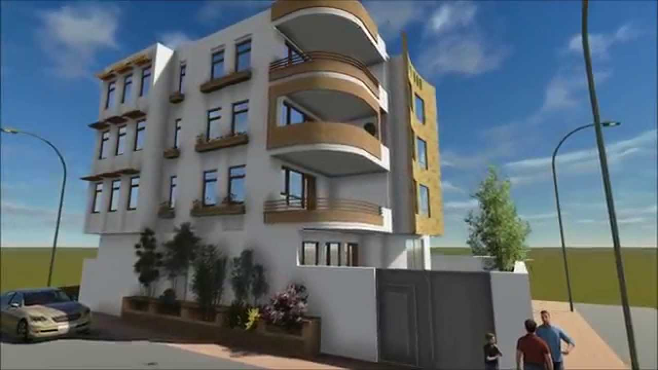 Residential Building Design And 3d Animation Youtube
