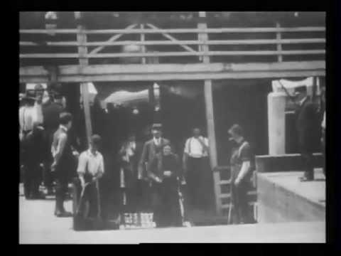 Emigrants [i.e. immigrants] landing at Ellis Island