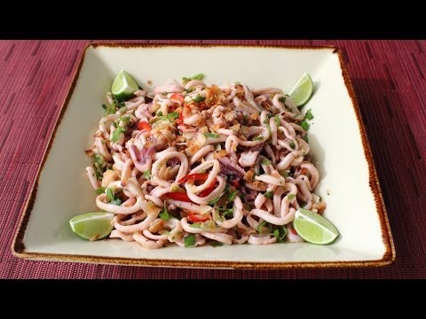 Spicy Coconut Calamari Salad - Asian-Style Coconut & Squid Salad Recipe