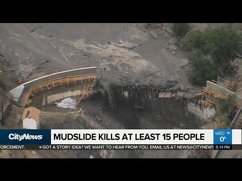 Rescue crews busy after devastating California mudslides